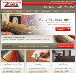 Wholesale Carpets Express Homepage