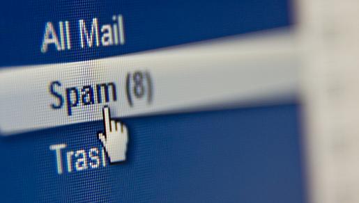 link to spam folder
