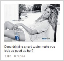 Does drinking smartwater make you look as good as her