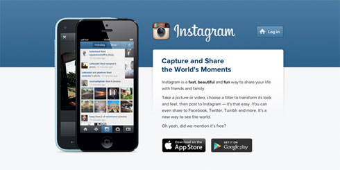Istagram Homepage