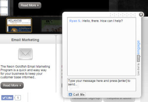 Chat Agent on website.