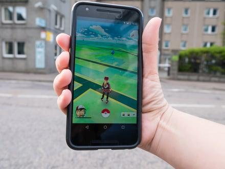 Pokemon Go screen image.