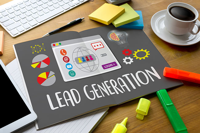 Table with graphic on lead generation