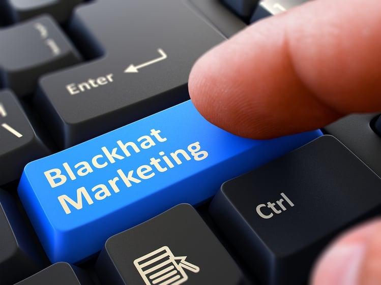 Keyboard with Blackhat marketing Key